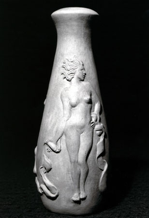 Bottle with Figure- clay