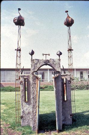 Mosque front- cement & steel